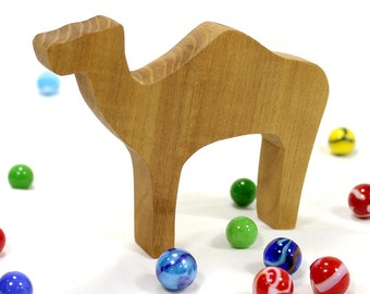 Animal Toy, Wooden Camel Toy, Handmade Wood Toy, Gift for Kids, Noah's Ark Animal, Noahs Ark Toy, Nativity Animal Toy