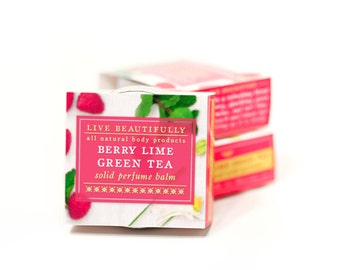 Berry Lime Green Tea Perfume - All Natural - Sparkling Green Tea and Raspberry