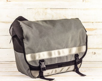 SALE | Grey Cordura Messenger Bag