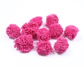 10 Pink Hmong Cotton Pom Poms DIY Hill Tribe Thailand  (DIY7587-10C8)