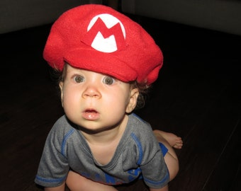 Super Mario Brothers-INFANT or TODDLER Fleece MARIO Hat