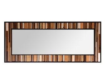 "Reclaimed Wood Mirror - 70x26 - Leaner Mirror - Floor Mirror - ""Natural Reflection""- Modern Wood Wall Art- Reclaimed Wood Art"