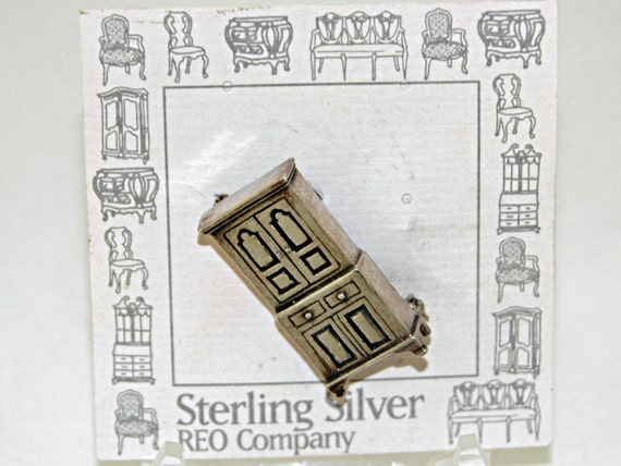 Reduced Price Vintage Sterling Silver REO Co. LINEN PRESS Pin Copy of One made Ca 1780-1800 by James Gheen, Rowan County, N C