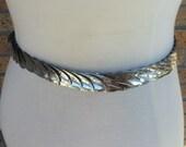 Layered Feather Belt // Metal & Elastic