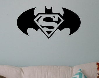 Batman Vs Superman Versus Logo Comicbook Hero Vinyl Wall Decal Sticker