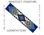 Loom pattern - native american inspired bracelet pattern - Fountain