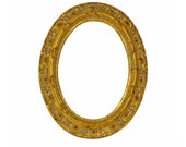 Ornate Oval Frames 5x7 - Gold Color with Red Gesso Highlights - Antique Look, Gold Leaf - Vintage Picture Frame, Old Oval Picture Frame