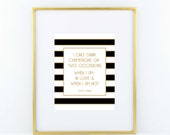 Coco Chanel Champagne Print- Black