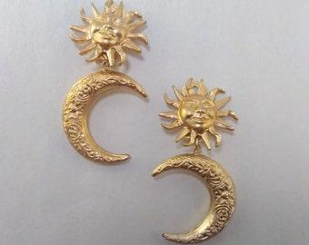 Celestial Dangle Clip-On Earrings
