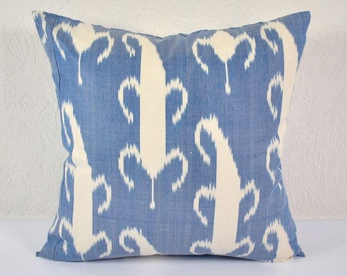Ikat Pillow, Hand Woven Ikat Pillow Cover A417-1AA3, Ikat throw pillows, Designer pillows, Decorative pillows, Accent pillows