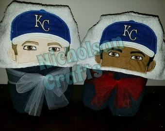 Royals Baseball Fan Hooded Towel
