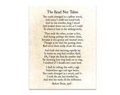 Road Not Taken, Robert Frost Poem, Poetry Art, Modern Art, Literary Quote, Book Art Print, Large Wall Art, Fine Art Print