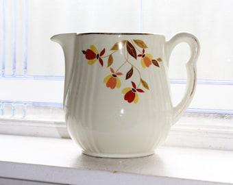 Hall Autumn Leaf Pitcher Jewel Tea Vintage 1950s
