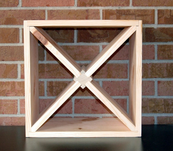 Diy 15 wood wine rack kit square x insert kitchen bath for How to make a simple wine rack
