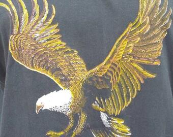 """Vintage Biker """"Harley Davidson""""  Tee shirt 1970s 70s Eagle NOS"""