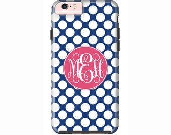 Custom iPhone 7 or iPhone 7 Plus Cases | Personalized Case Mate Tough or Barely There cases iPhone 6, iPhone 6 Plus  & More - Polka Dots