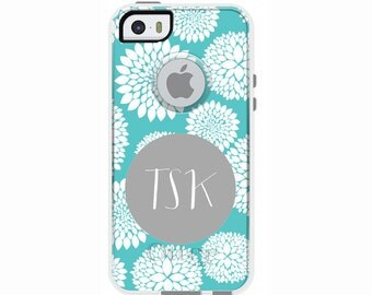 Blooms Monogrammed Otterbox Commuter Case for iPhone SE, iPhone 6/6s PLUS, iPhone 6/6s, iPhone 5c, iPhone 5/5s, Galaxy S7, Galaxy Note 5