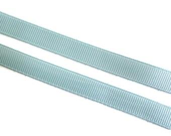 "Light Blue Grosgrain Ribbon. 3/8"" Width. Narrow Grosgrain Ribbon. 5 Yards. No. 305"