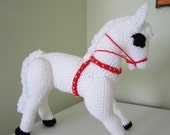 ON SALE - 10% OFF Crochet toy animal...Stuffed  horse ...Large soft children toy