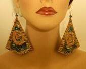 Dangle Earrings - Handpainted