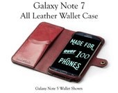 Galaxy Note 7 Leather Wallet Case / samsung galaxy note 7 case / note 7 wallet / phone case wallet / leather phone case / note 7 cover