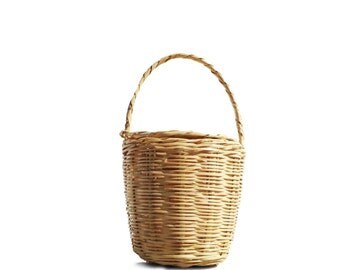 BIRKIN BASKET - Jane Birkin Basket - handmade wicker basket -  LUNCHBOX