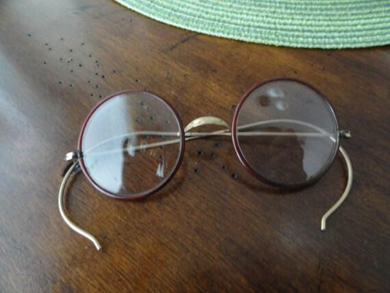 b181 vintage stoco frame wire eye glasses
