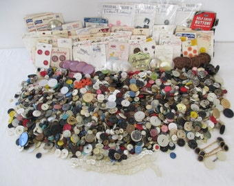 Bulk Lot of Vintage Buttons