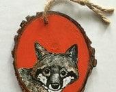 Ornament - Fox on wood
