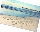Save-the-Date Beach Destination Wedding Photo cards Personalized Names and Date Save The Date Cards - Casual Wedding Invite PELICANS IN SKY