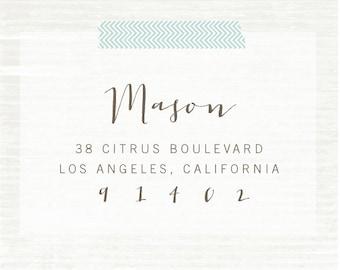 Address Stamp, Custom Address Stamp, Custom Wood Stamp, Calligraphy Stamp, Personalized Gift, Custom Rubber Stamp, Housewarming Gift