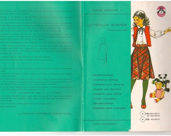 Lutterloh's Golden Rule Special Edition Supplement No 17 Children's Vintage 1980s Sewing Pattern Making Design Drafting Dressmaking System