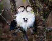 Bat Plush, Soft Sculpture, Fibre Art, Plush OOAK, Halloween - PRINGLE