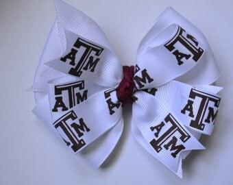 Texas A & M Aggie Hair Bow