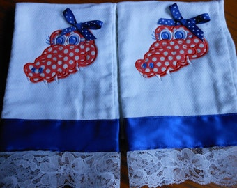 Florida Gator Girl-Baby Burp Cloths - Set of 2