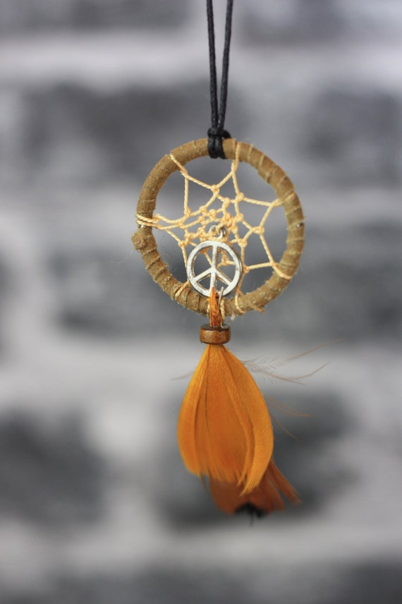 PEACE DREAMCATCHER NECKLACE -Statement Necklace- Dreamcatcher- Bohemian- Boho chic- Festival necklace- Bespoke Jewelry- Festival- Vintage