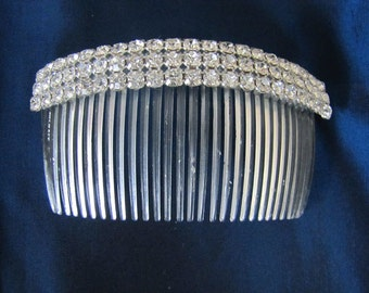Pair of Vintage Rhinestone Hair Combs