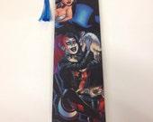 Upcycled Harley Quinn and Zatanna Comic Book Bookmark