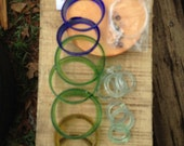 GLASS DIY WINDCHIME kits, mini windchime kits, mobile, eco friendly and green, wind chimes, do it yourself kits, kits,