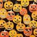 Jack O Lanterns, Jolly Jack O Lanterns by Alexander Henry, Pumpkins, Halloween Fabric, Orange Fabric, Pumpkin Fabric, 01039A
