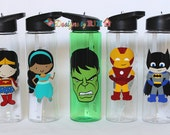 Personalized Super Hero Kids 24oz Summit Tritan Sports Water Bottle