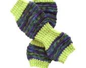 Yoga Socks, Purple/Greem Hand Knit Yoga, Green Rib Yoga, Pilates Socks, PiYo-Dance-Pedicure Sox, Slipper Socks, Boho Socks, Hipster Sox