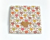blank mini note card set, envelope style ditsy floral mini note cards, set of 8 handmade mini cards, trifold mini cards, thank you notes