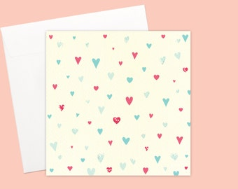 Unisex Hearts Greeting card or greeting card set