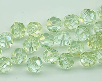 Twelve Swarovski crystals - Art. 5000 - 8 mm - light azore champagne