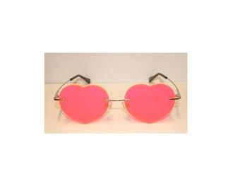 Pink Heart no frame glasses