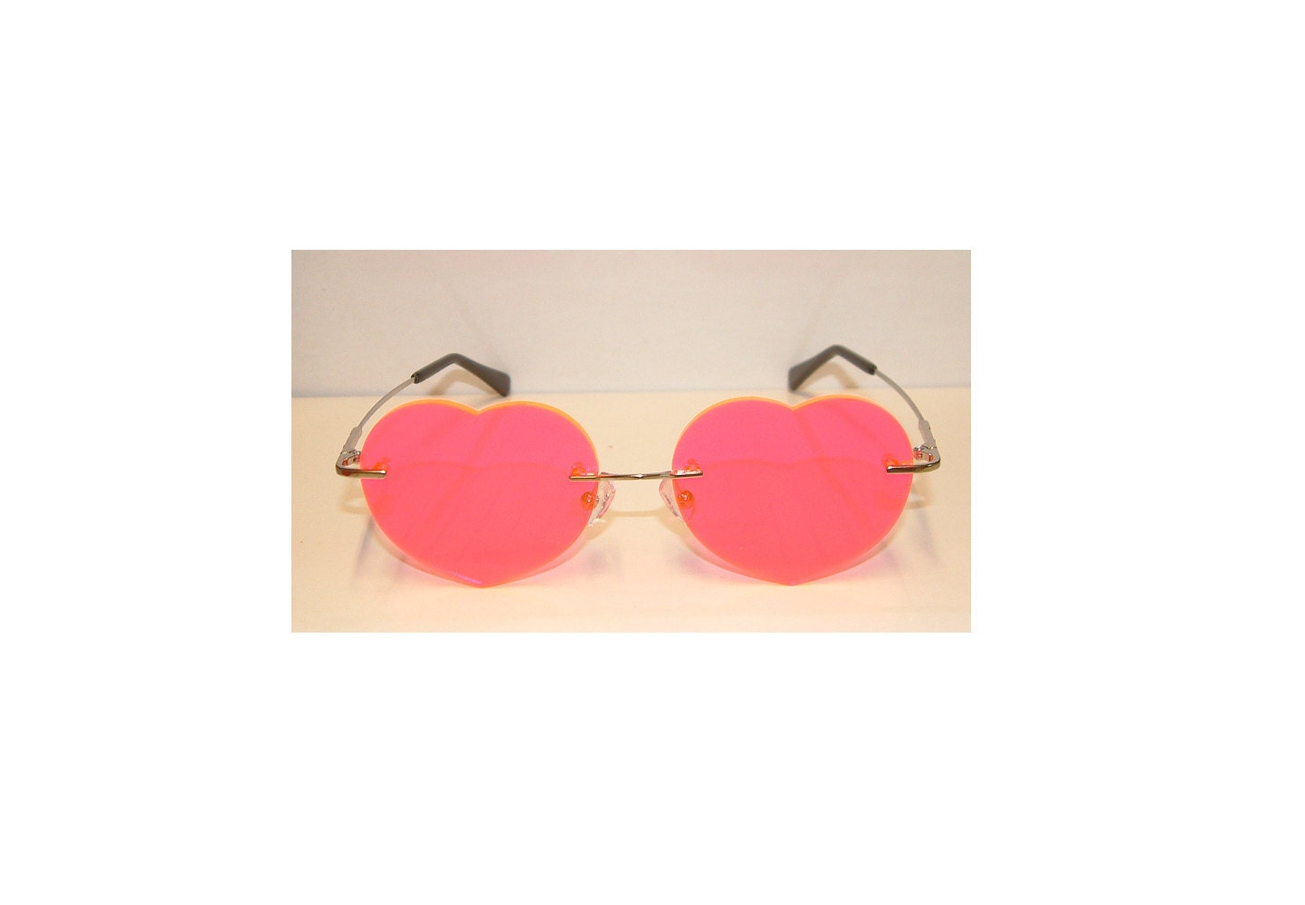 Pink Heart no frame glasses