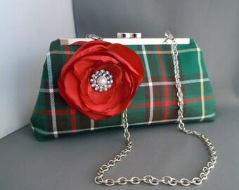 Newfoundland Tartan Clutch, Bridal Clutch, Girlfriend Clutch, Mother of the Bride Clutch, Christmas Gift Clutch, Wedding Clutch