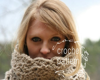 CROCHET PATTERN  Scarf Pattern The Rochester Neck Warmer Make Your Own Scarf