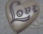 12 Love Struck Heart Shaped Chocolate Valentines Day Wedding Day Engagement Announcement Lollipops Party Favors
